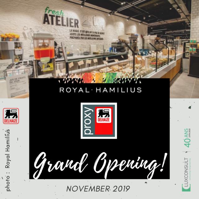 Après l'ouverture de l'enseigne Fnac, c'est le tour de Delhaize d'ouvrir ses portes au Royal-Hamilius !